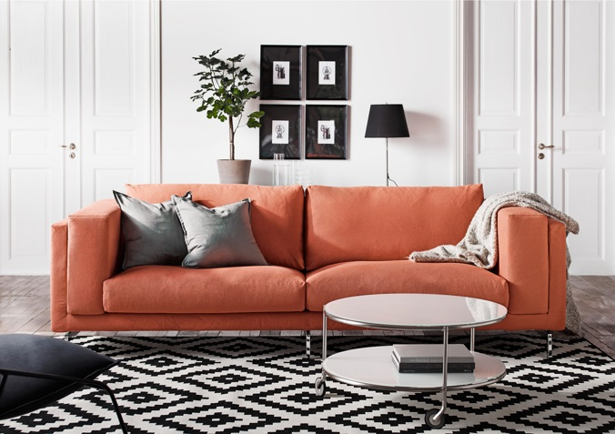 12 TRENDY COLOR SOFAS YOU MIGHT LOVE KATE DWELL IN STYLE_CORAL