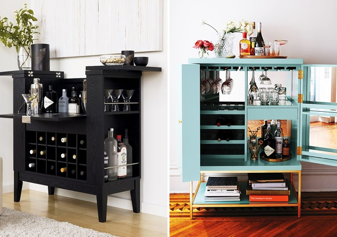 7 WAYS TO HAVE A STYLIST BEVERAGE CENTER KATE DWELL IN STYLE_ MINIBAR
