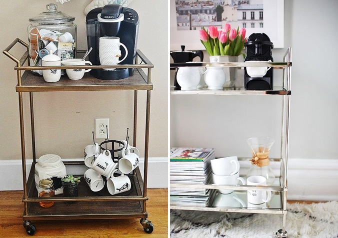 7 WAYS TO HAVE A STYLIST BEVERAGE CENTER KATE DWELL IN STYLE_BAR CART