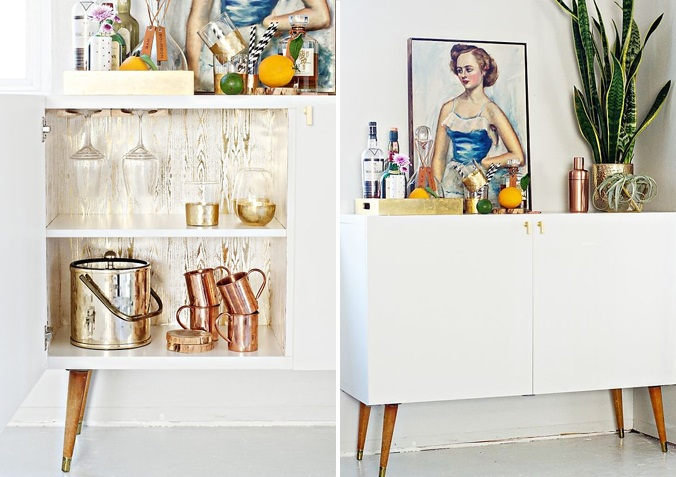 7 WAYS TO HAVE A STYLIST BEVERAGE CENTER KATE DWELL IN STYLE_CREDENZA