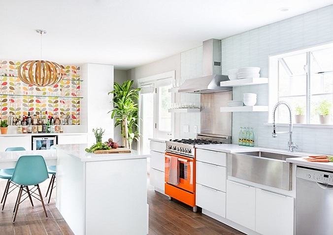 HOW TO PERSONALIZE A WHITE KITCHEN KATE DWELL IN STYLE_COLOR APPLIANCES