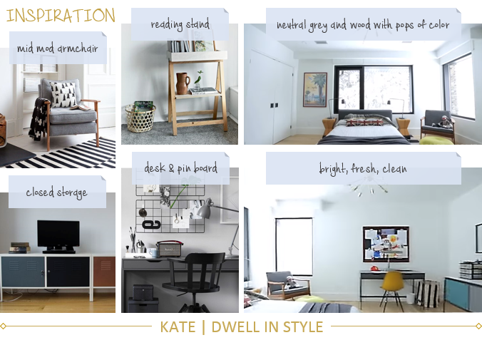 STYLE CHALLENGE - TRANSITIONAL CREATIVE BOY'S BEDROOM KATE DWELL IN STYLE
