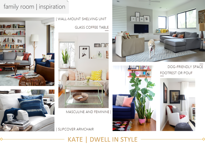 STYLE CHALLENGE - A BUDGET-FRIENDLY FAMILY LIVING ROOM KATE DWELL IN STYLE
